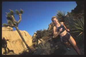 Gruenfeld does much of her Ironman training in California's Mojave Desert near her home in Palm Springs.